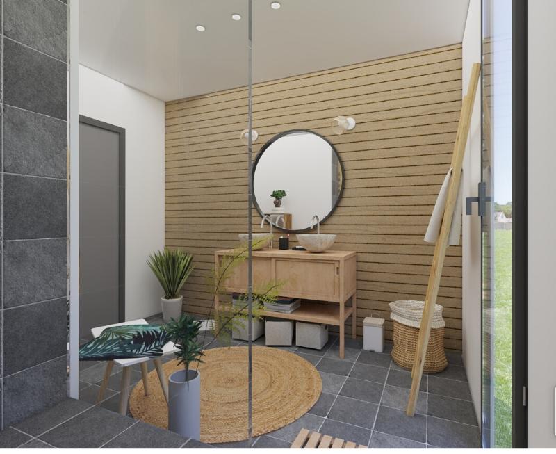 salle de bain 3D zen et nature