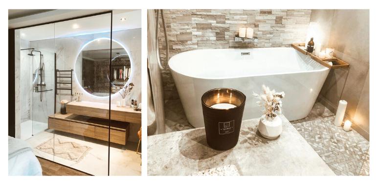 baignoire ilot salle de bain luxe