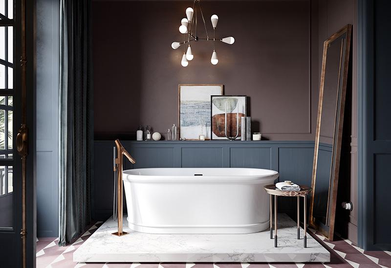 salle de bain vintage glamour
