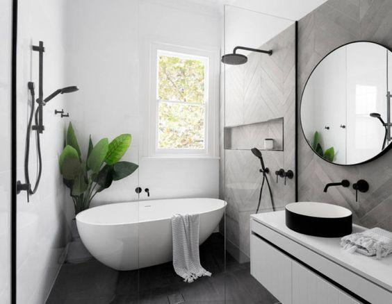 salle-de-bain-design-grise-et-blanche