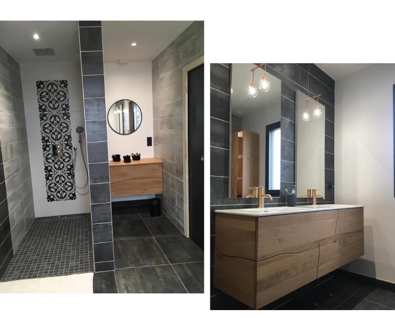 salle de bain zen avec douche italienne