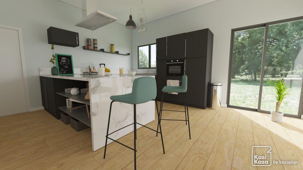 rendu-3D-HD-cuisine-en-U-noir-et-marbre-contemporaine
