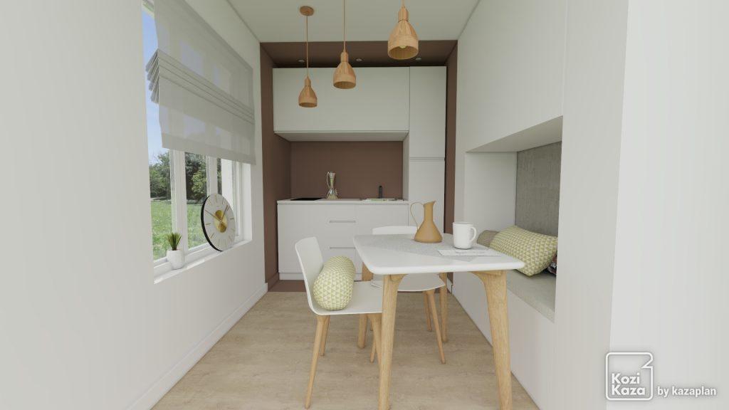 kitchenette avec jeu de peinture design
