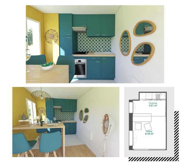 petite cuisine plan 3D