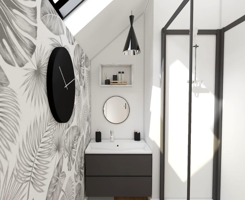 salle de bain mansardée : 10 exemples d'aménagement