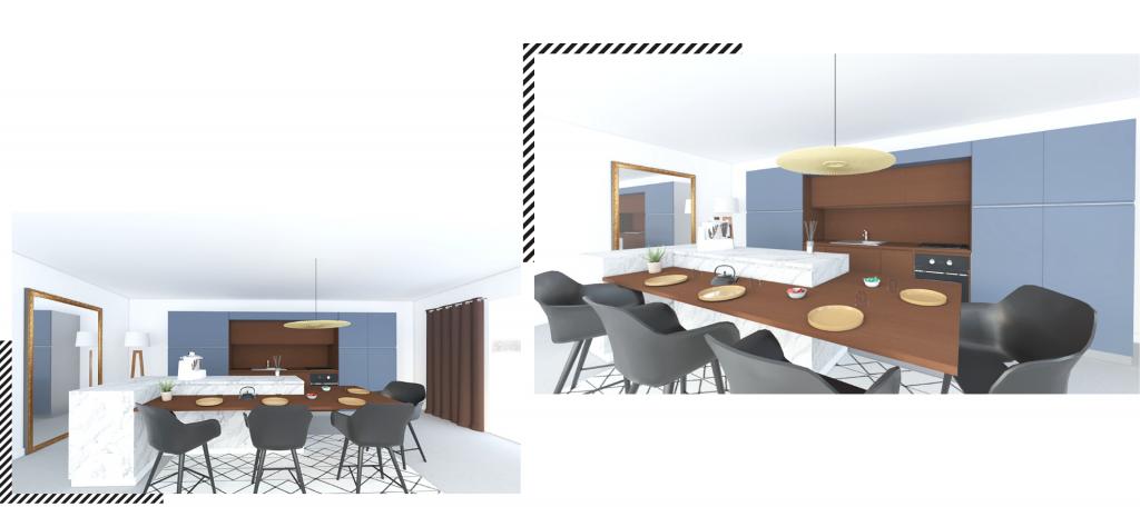 Une cuisine chic et design en I ouverte sur le séjour