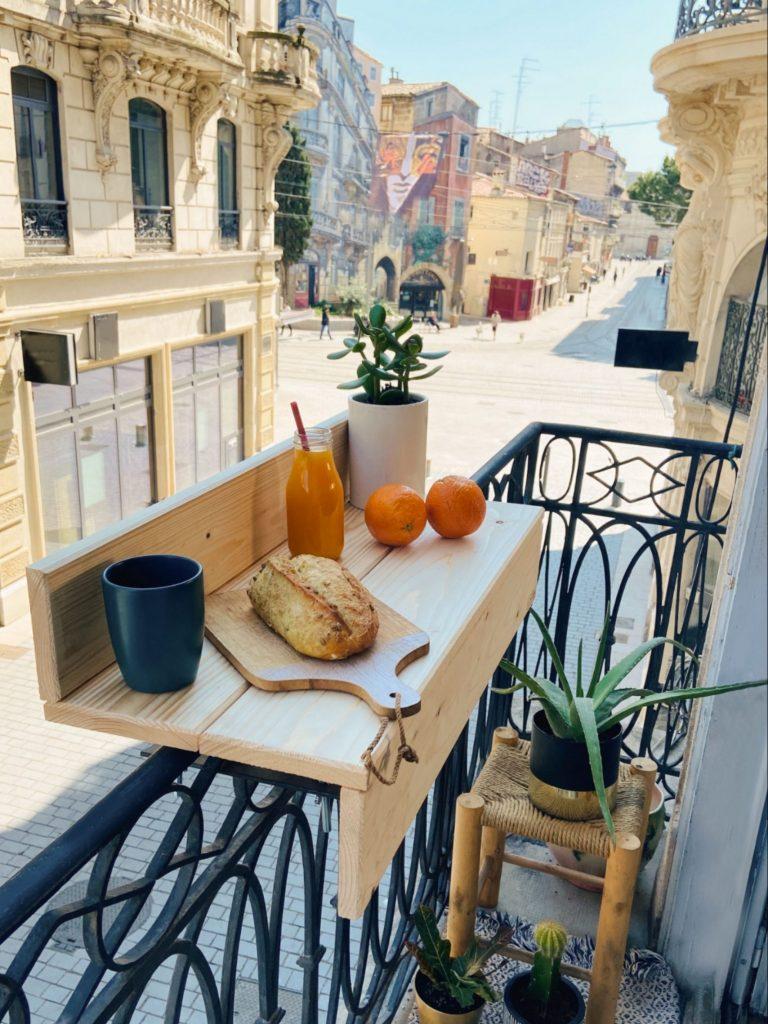 balcon bar aménagé sur une petite surface