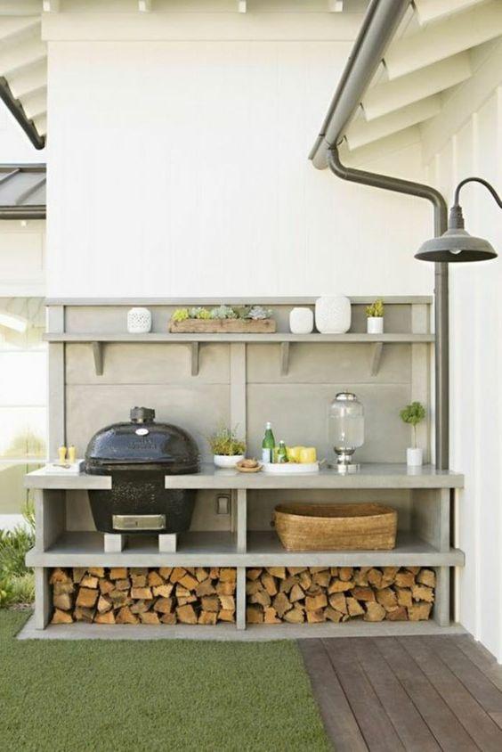 cuisine d'été avec barbecue
